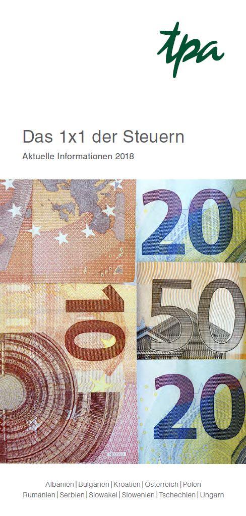 TPA 1x1 der Steuern 2018 Österreich - TPA Steuerberatung Publikation