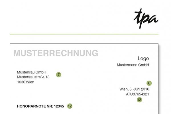 Ust Die Rechnung Ab 01012013 Tpa Steuerberatung österreich