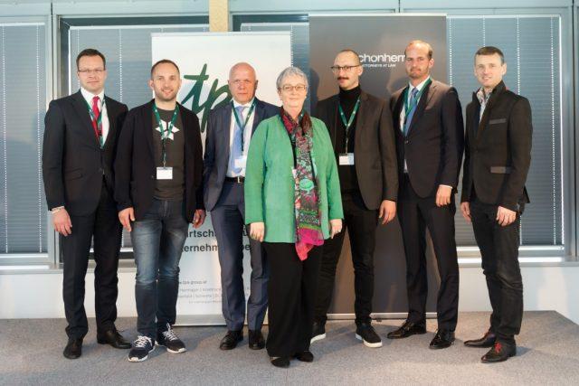 TPA Energy Tomorrow 2018: Wojciech Sztuba (TPA), Wlater Kreisel (Kreisel), Johannes Becker (TPA), Karin Fuhrmann (TPA), David Schnetzer (BitTex), Bernd Rajal (Schönherr Rechtsanwälte), Ingo Stadler (Universität Köln)