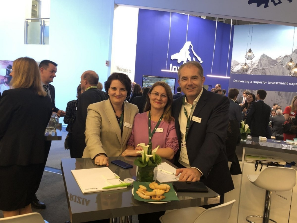 Expo Real: TPA Romania experte Gheorgheta and Sorana Cernea with CEE Group Partner Klaus Bauer-Mitterlehner