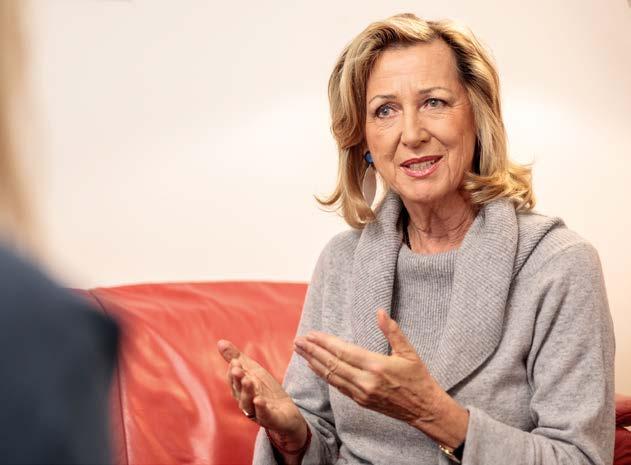 Gründerin der Roten Nasen Monica Culen im Face to Face Interview für das TPA Journal. Foto: Alexander Müller