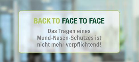 Mund Nasen Schutz Face to Face business meetings bei TPA