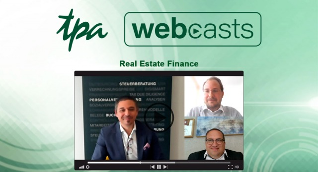 TPA Webcast real Estate Finance: Tokenisierung Digitalisierung Blockchain Digital real Estate