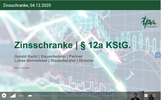 VIDEO: Webcast COVID19 Massnahmen für Unternehmer in österreich - Überblick von Steuerberater Helmut Beer - 15. 01.2021