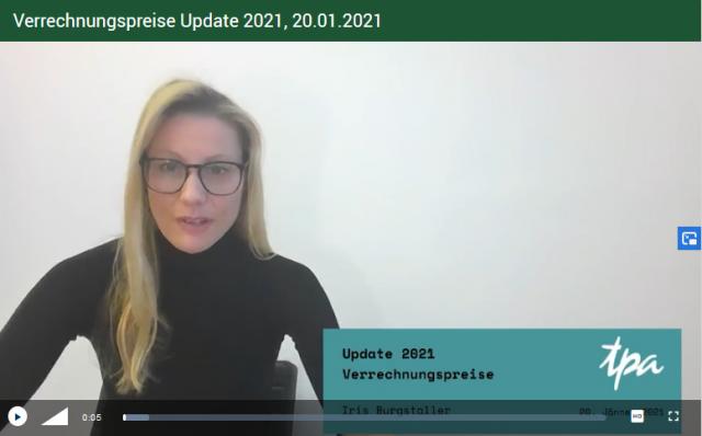 TPA Webcast: Verrechnungspreise 2021 - Iris Burgstaller, TPA Steuerberatung