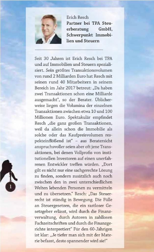 Erich Resch - steuerberater für Immobilien - TPA Steuerberatung - Immoblien Magazin 2021